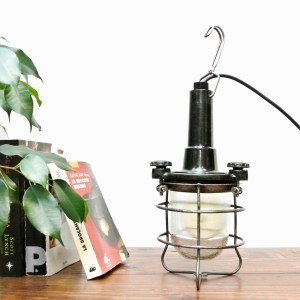 Inspection lamp with black bakelite anciellitude