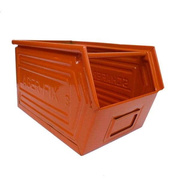Caisse métallique « orange » anciellitude