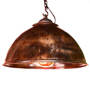 Ceiling Lamp in Steel, Natural Patina.. anciellitude