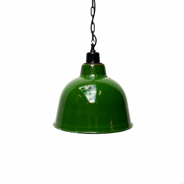 Suspension émaillée verte (tête basse) anciellitude