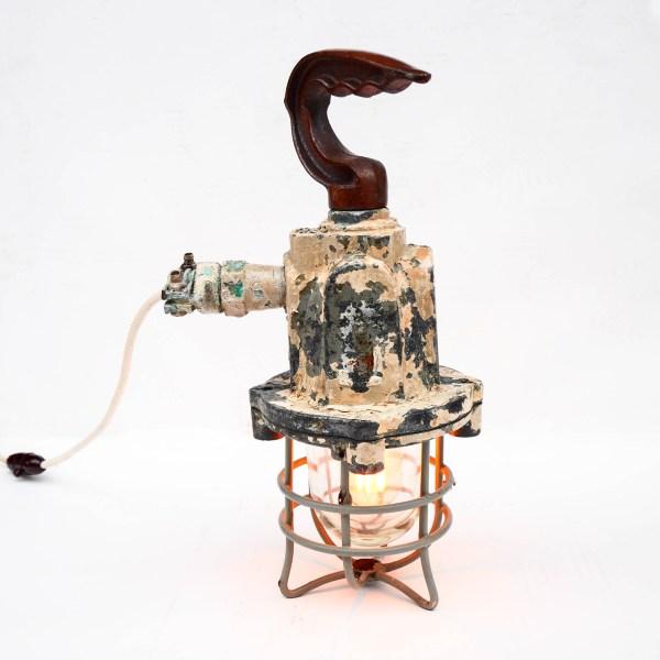Old Inspection Lamp Natural Patina  anciellitude