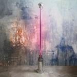 Vintage Industrial Fluorescent Light « Stand Up » - Big Size Anciellitude