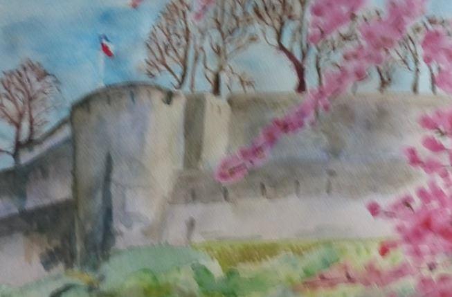 Châreau de Sierck au printemps