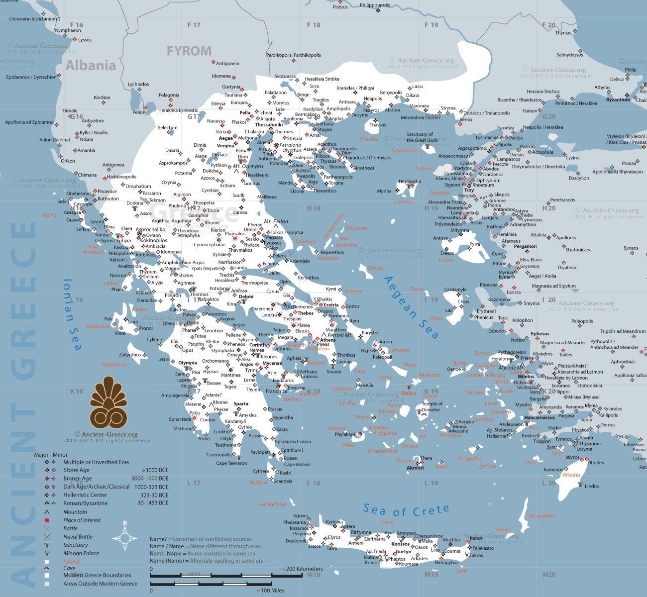 Ancient Greek Maps By History Link 101