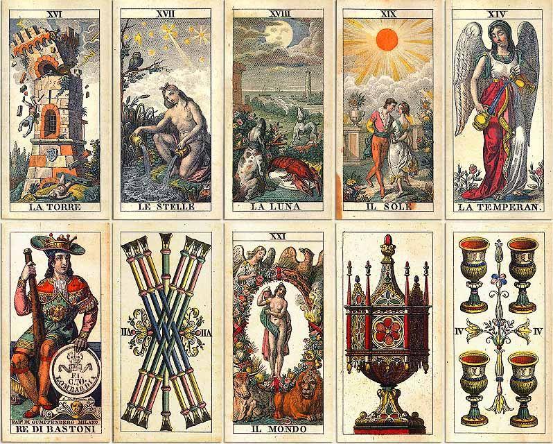 Italian suited Tarot Cards