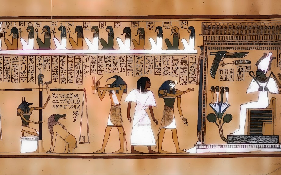 Hall of Osiris where Thoth is weighing the heart with Ammit by his side