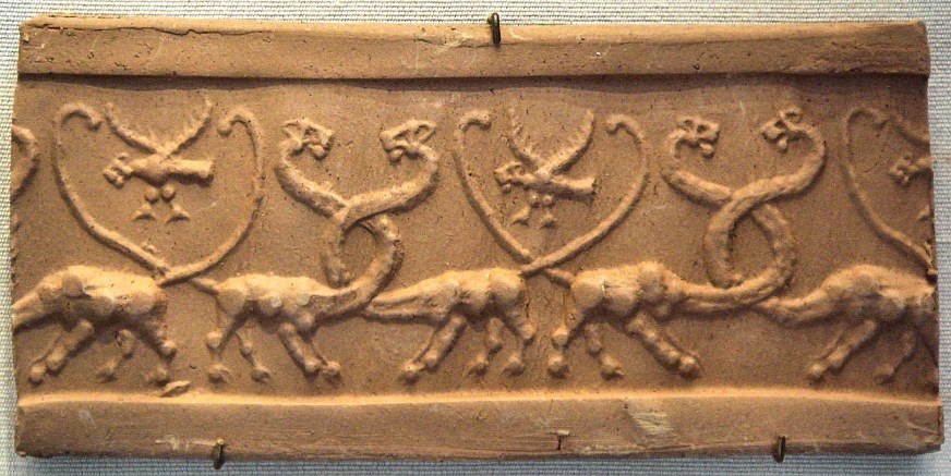 Depiction of Hydra; Uruk, 3000 BC.