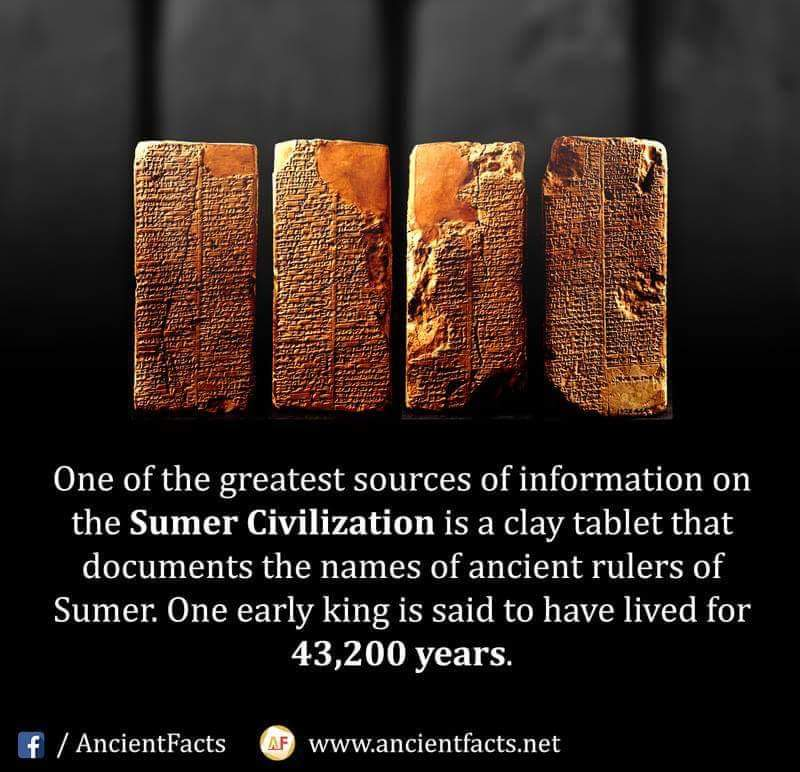 Picture of the sumerian king list