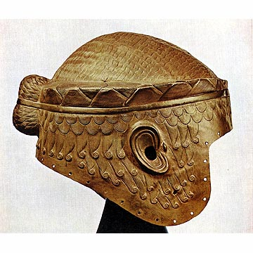 Gold Helmet of King Meskalamdug from the Royal Cemetery of Ur: LOST TREASURES FROM IRAQ (The Oriental Institute of Chicago)