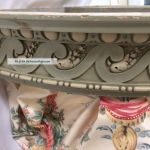 Antique French Bed Crown Canopy Teester Painted Carved Wood 33 W Elegant Touch