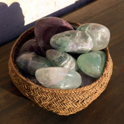 Flourite pottery polishing stones