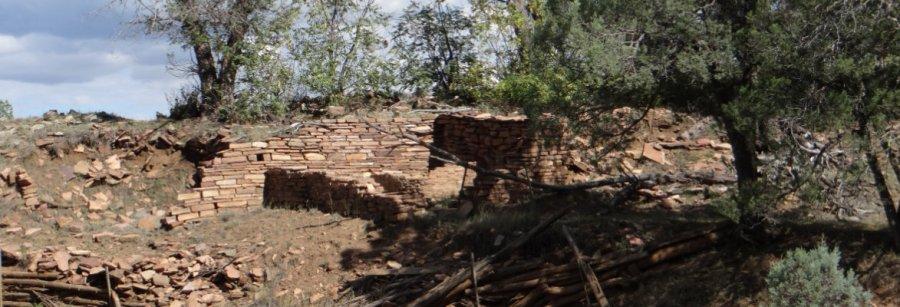 The ruins of Q Ranch Pueblo
