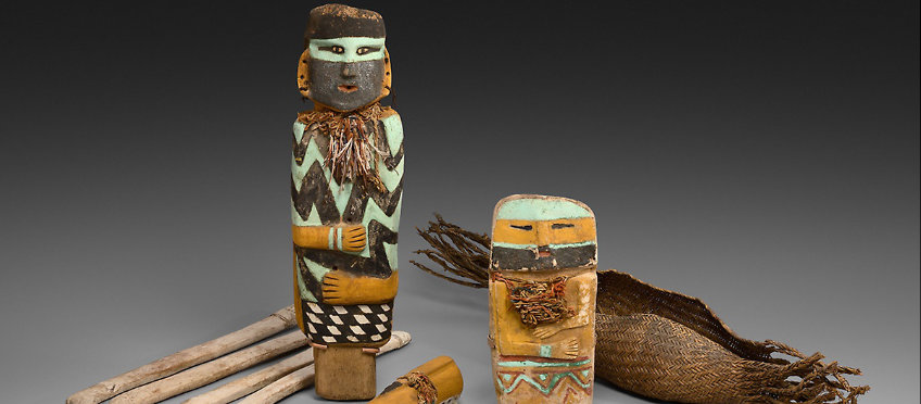 Painted wooden figurines
