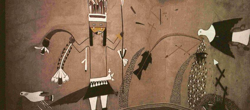 Kiva mural recreation, Coronado Historic Site, New Mexico