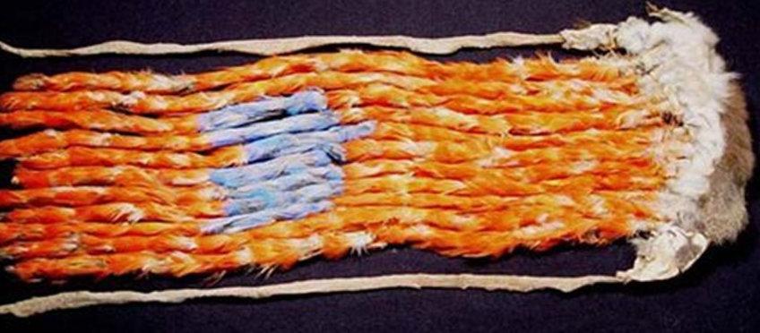 macaw feather sash