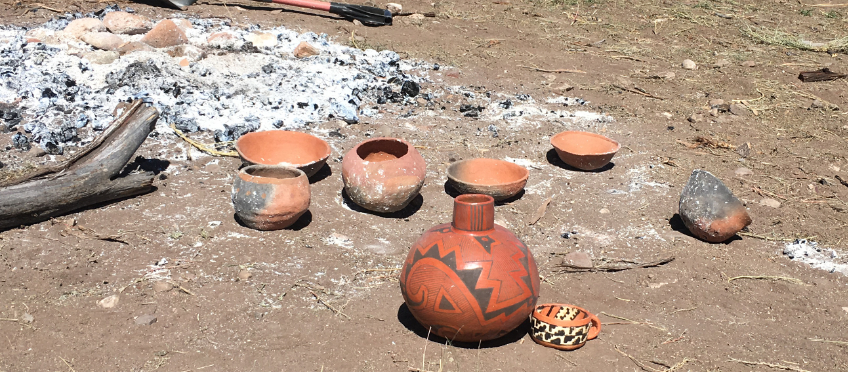 the result of a successful outdoor pottery firing