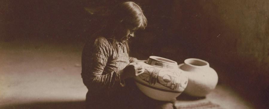 Hopi potter nampeyo by edward curtis
