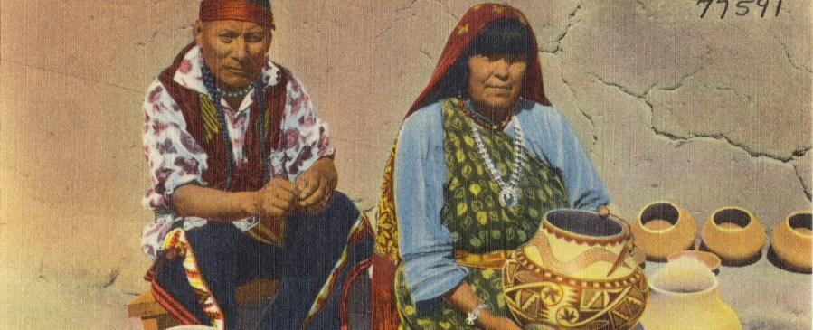Two of the best know Pueblo potters Maria and Julian Martinez