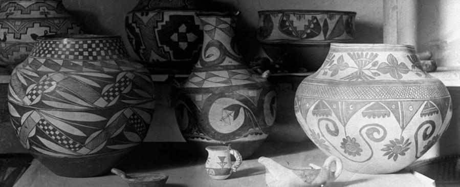Classic Pueblo pottery in 1900