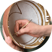 hand paint pottery