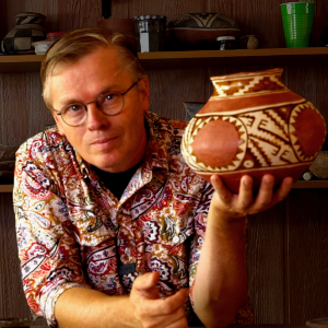 Andy Ward with pottery