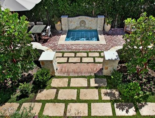 outdoor-limestone-patio-pool-coping-pool-fountain-limestone