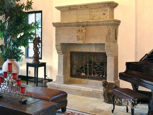 antique-limestone-fireplace