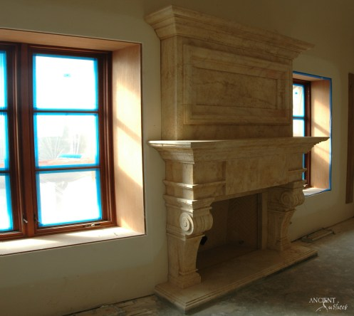 limestone-fireplace-over-mantel