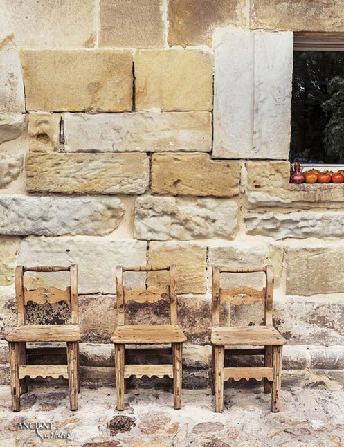 Antique collage of antique French Limestone cladding