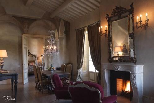 french-farmhouse-limestone-fireplace