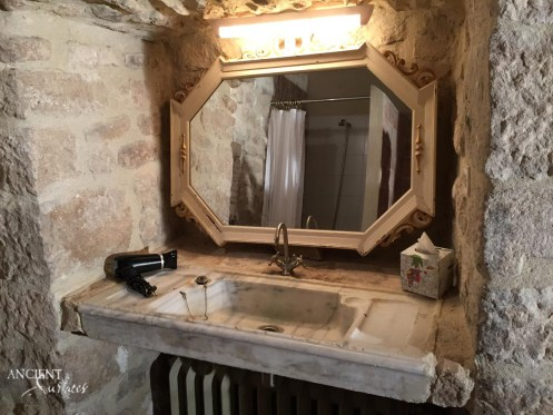 Antique Reclaimed Marble Sink in a Countryside Farmhouse Bathroom-3