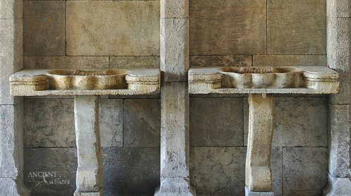 Double Antique Stone Sinks by Ancient Surfacs