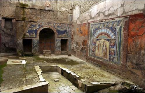 Limestone Stone in Pompeii's Bars