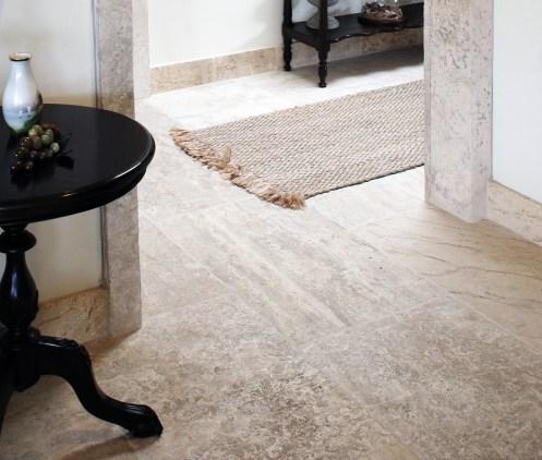 Antique Millennium Limestone Floors Paving the Entire Home