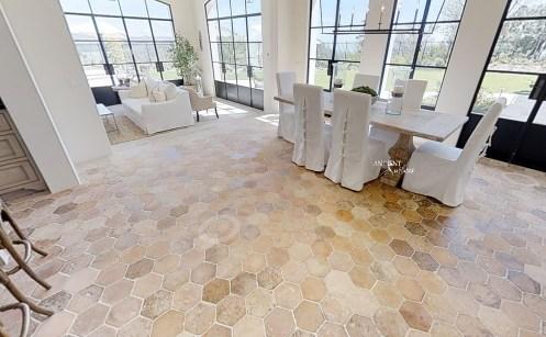 living-room-with-hexagonal-tiles
