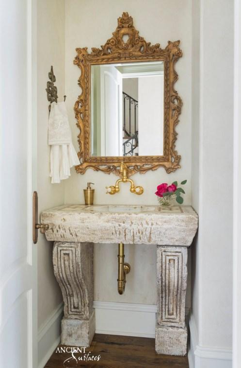 Antique-limestone-bathroom-sink-design