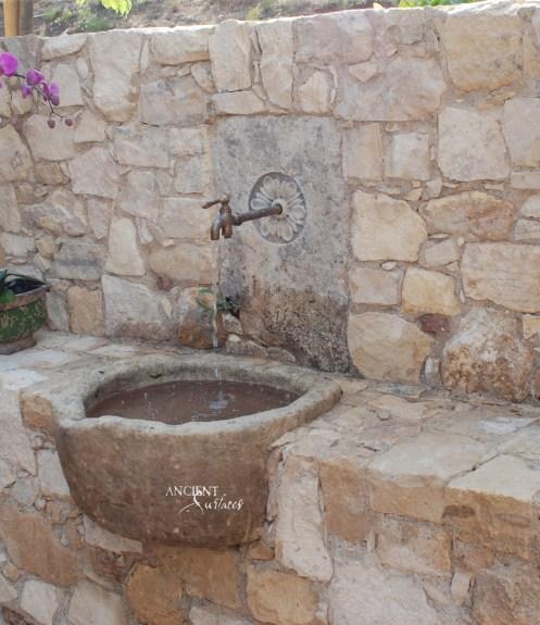 Mediterranean-Reclaimed-Side-limestone-fountain-