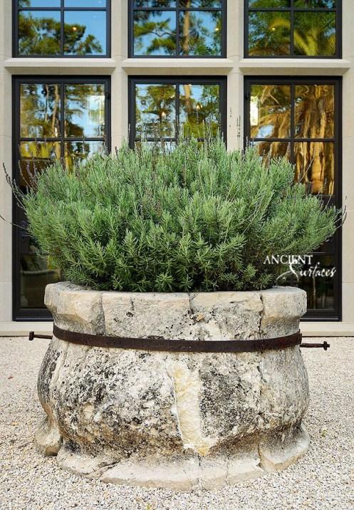 Hand-carved-Limestone-stone-planter-Home-Decor-Antiques-Authentic-European-Design-Interior-Furniture