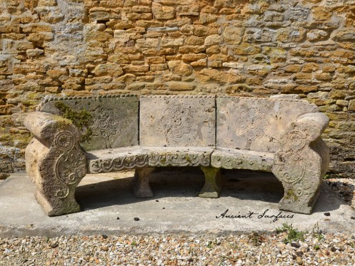 Outdoor-limestone-bench-french-farmhouse-ancient-surfaces