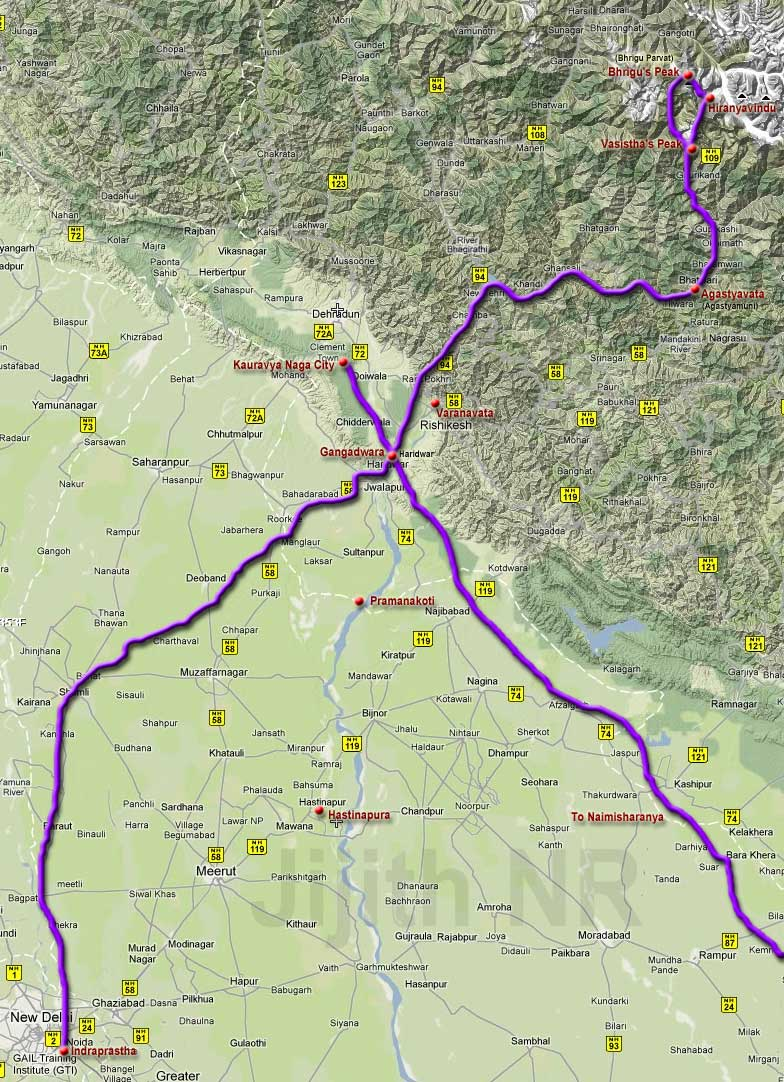 Arjuna's journey into Gangadwara and the Himalayan Peaks.jpg