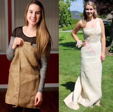 Courtney in her burlap gown \