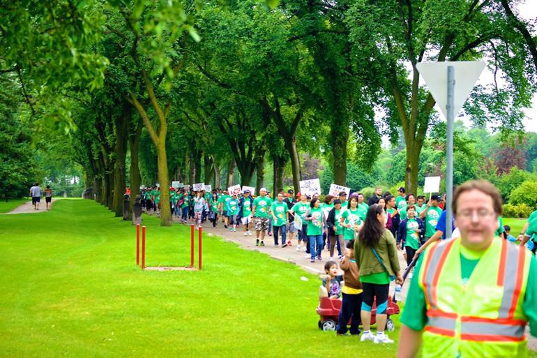 ANCOP Walk in Winnipeg, rain or shine!
