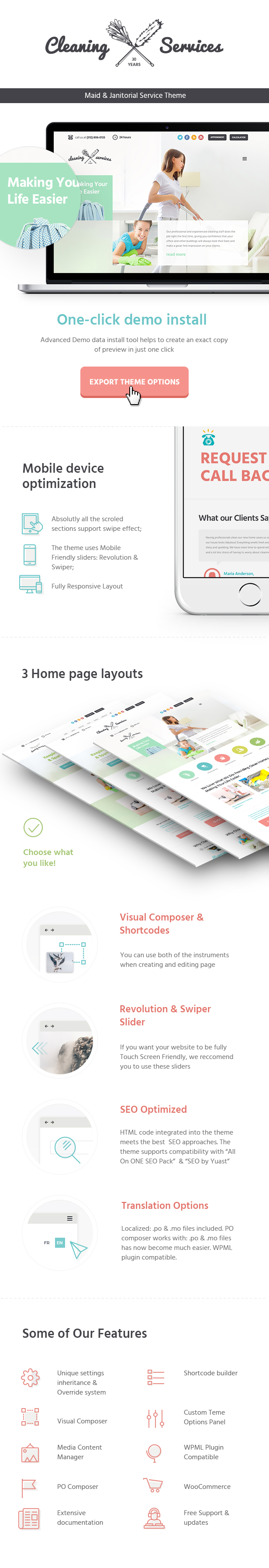 Cleaning Company - Maid & Janitorial Service WordPress Theme - 2