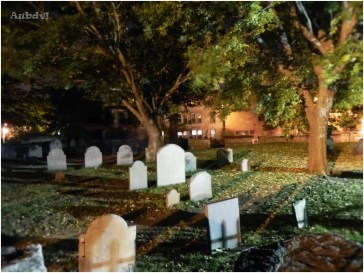 Old Burying Point Cemetery nel centro storico di Salem