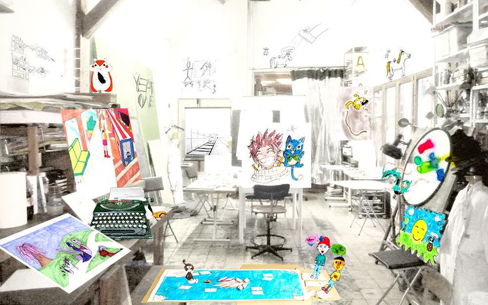 l atelier Croissy sur seine cours stage formation numérique  atelier dessin dessin animé vidéo effets spéciaux bandes dessinées arts plastiques prépa école d art