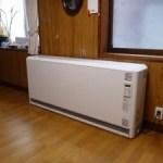 すっかり春ですが蓄熱式暖房器を取付けました(中町)