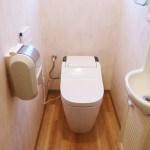 アラウーノとトイレの床貼替えは半日です(大成町)