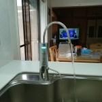 システムキッチンにはビルトインタイプの還元水素水!(浜町)