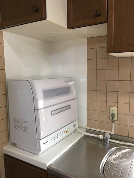 ビルトイン食器乾燥機を撤去して卓上食器洗い乾燥機に(下ノ江町)