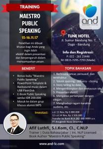 Training Bandung Maestro Public Speaking